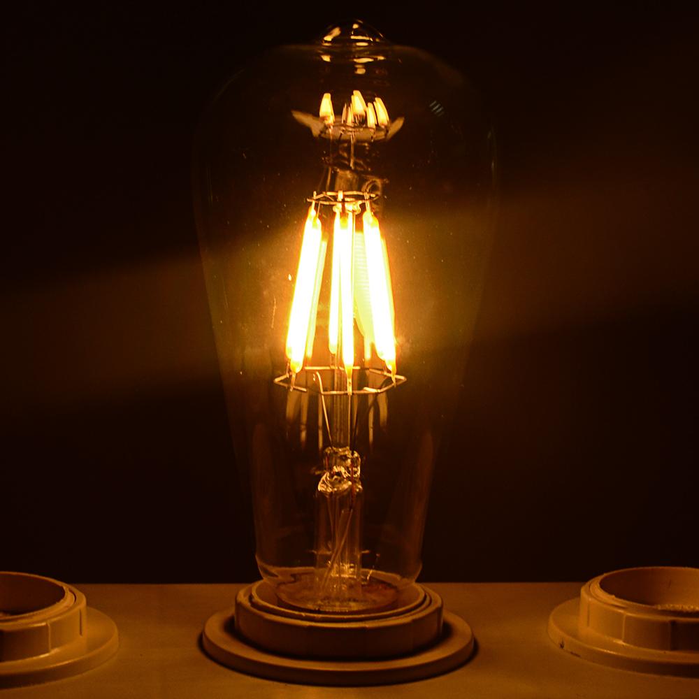 e27 edison cob led lampe filament vintage gl hbirne corn maislampe leucht 2w 40w ebay. Black Bedroom Furniture Sets. Home Design Ideas