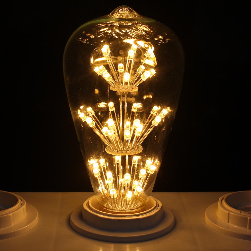 Led Decorative Lighting: E27 3W LED Vintage Retro Edison Filament Xmas Decorative