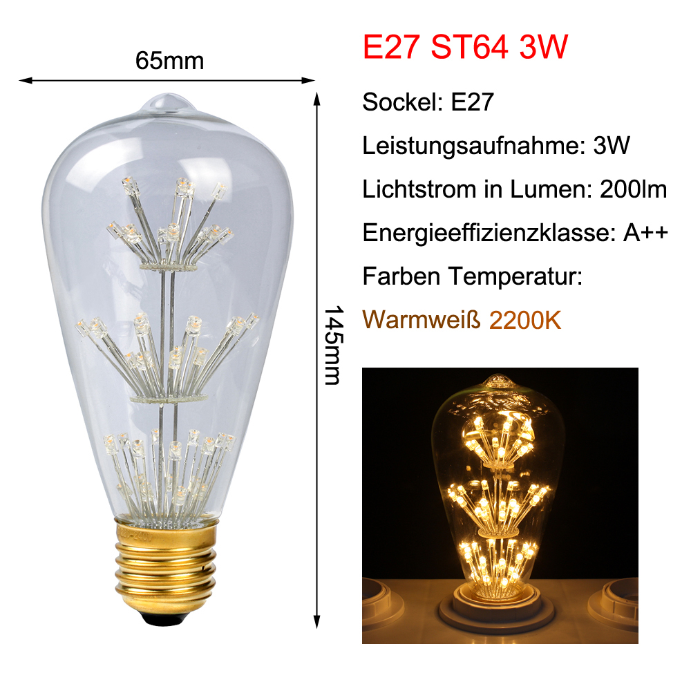 e27 e14 led retro edison rustika carbon gl hbirnen lampe leuchtmittel gl hlampe ebay. Black Bedroom Furniture Sets. Home Design Ideas