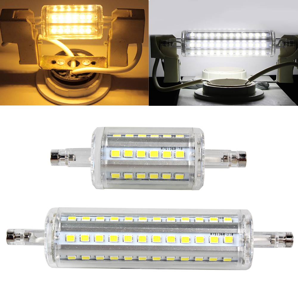 r7s 10w 15w 3014 2835 4014 smd led 78 118mm ampoule lampe. Black Bedroom Furniture Sets. Home Design Ideas