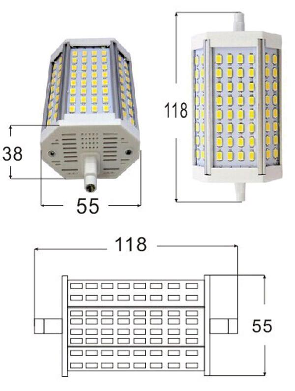 Dimmerabile r7s 30w 118mm 5730 smd led flood light for Lampada led r7s 118mm dimmerabile