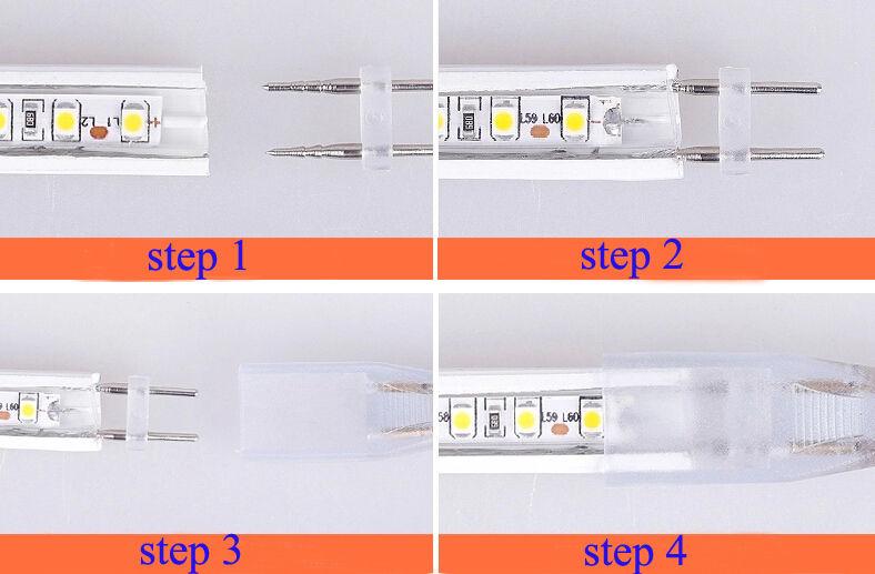 ip65 5050 smd led strip lichtschlauch lichterkette netzteil warmwei kaltwei. Black Bedroom Furniture Sets. Home Design Ideas