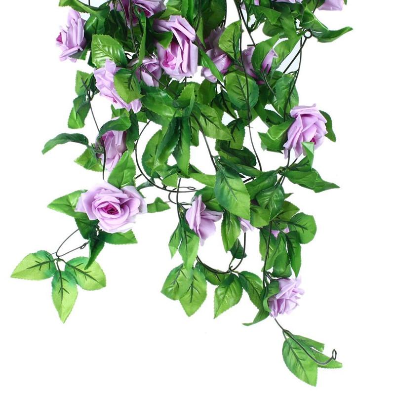seidenblumen efeuranke blumenranke rosen kunstblumen blumen girlande deko ranken ebay. Black Bedroom Furniture Sets. Home Design Ideas