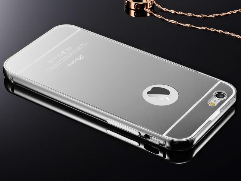 luxus aluminium metall spiegel bumper case tasche h lle. Black Bedroom Furniture Sets. Home Design Ideas