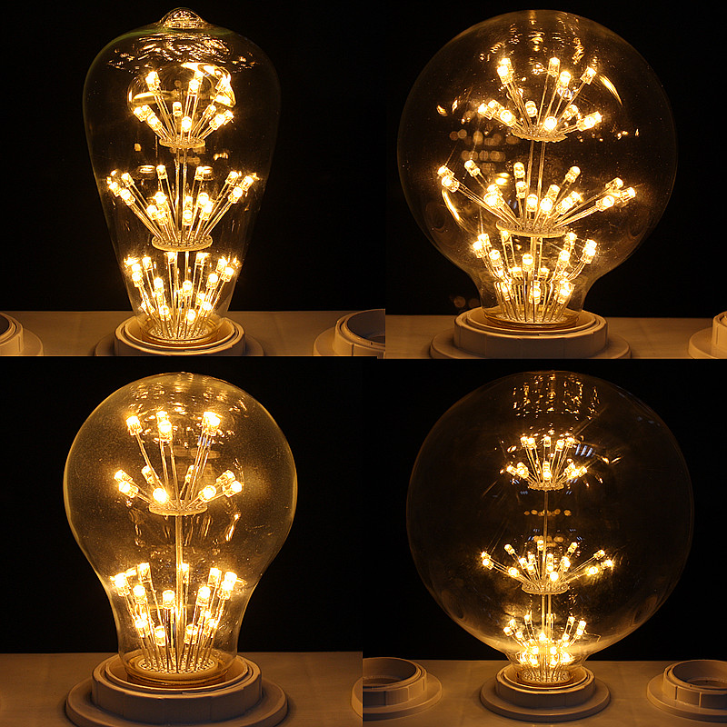E27 3W LED Edison Squirrel Flower Filament Industrial
