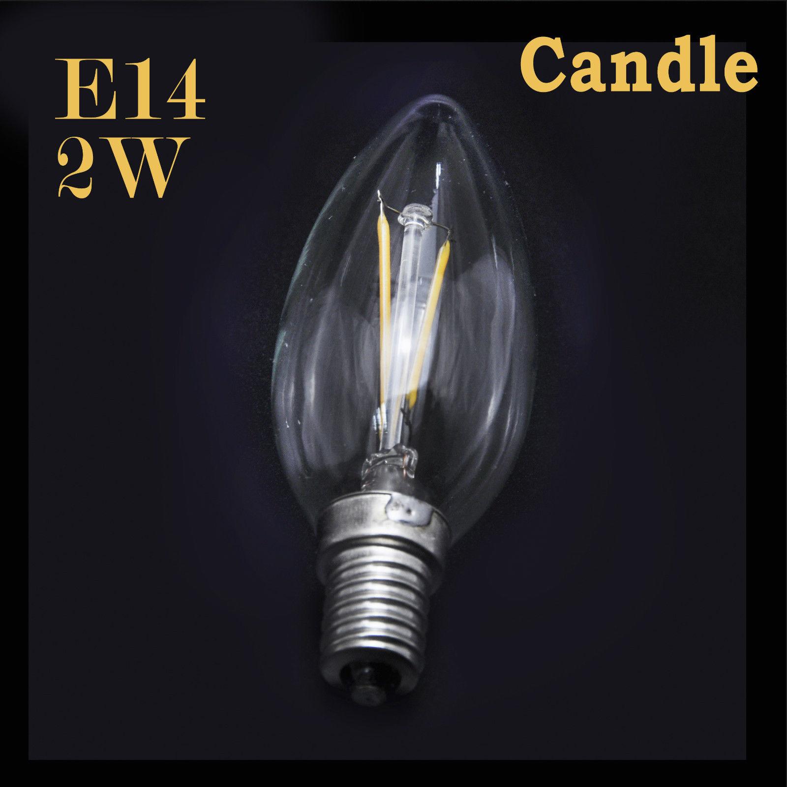 2w 4w 6w 8w e27 e14 led filament gl hbirne lampe kerzen kugel birne leuchtmittel ebay. Black Bedroom Furniture Sets. Home Design Ideas
