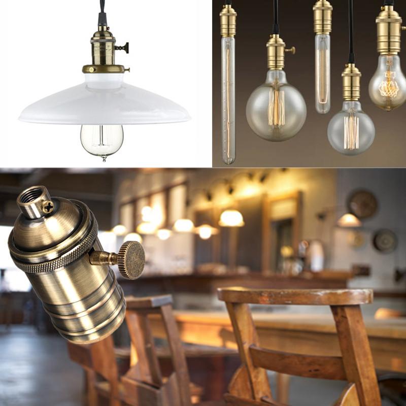 e27 retro fassung deckenfassung lampenfassung socket lampe halterung sockel ebay. Black Bedroom Furniture Sets. Home Design Ideas