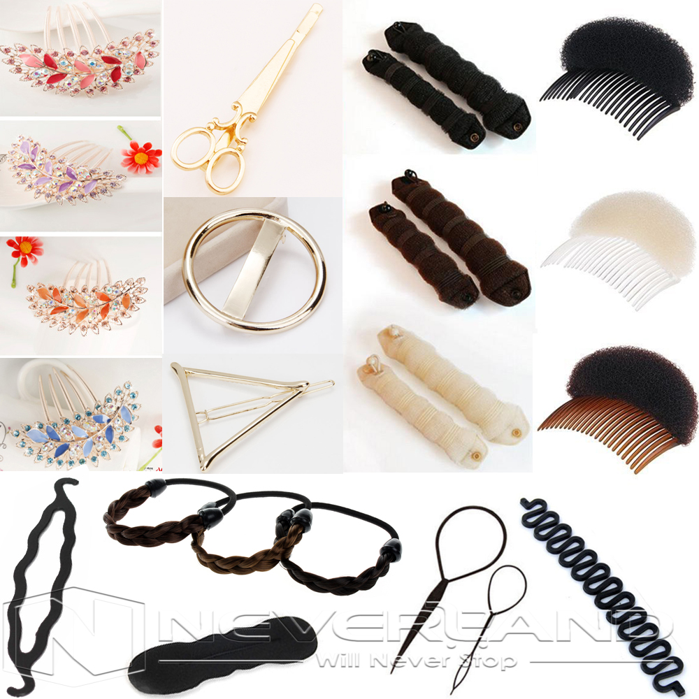 9xBeauty Girl Hair Styling Clip Stick Bun Maker Braid