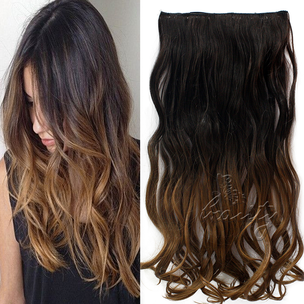 60cm ombre clip in haarverl ngerungen hair extensions dip. Black Bedroom Furniture Sets. Home Design Ideas