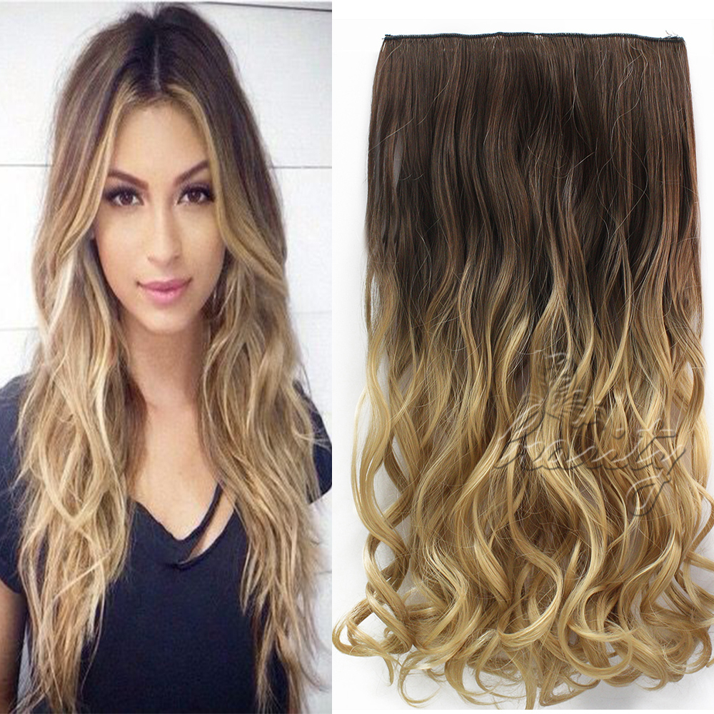 60cm clip in extension capelli 5 clip ombre parrucca hair extensions 6 couleurs ebay. Black Bedroom Furniture Sets. Home Design Ideas