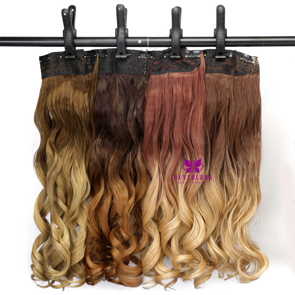 hottest 34 full head clip in curly hair extension ombre