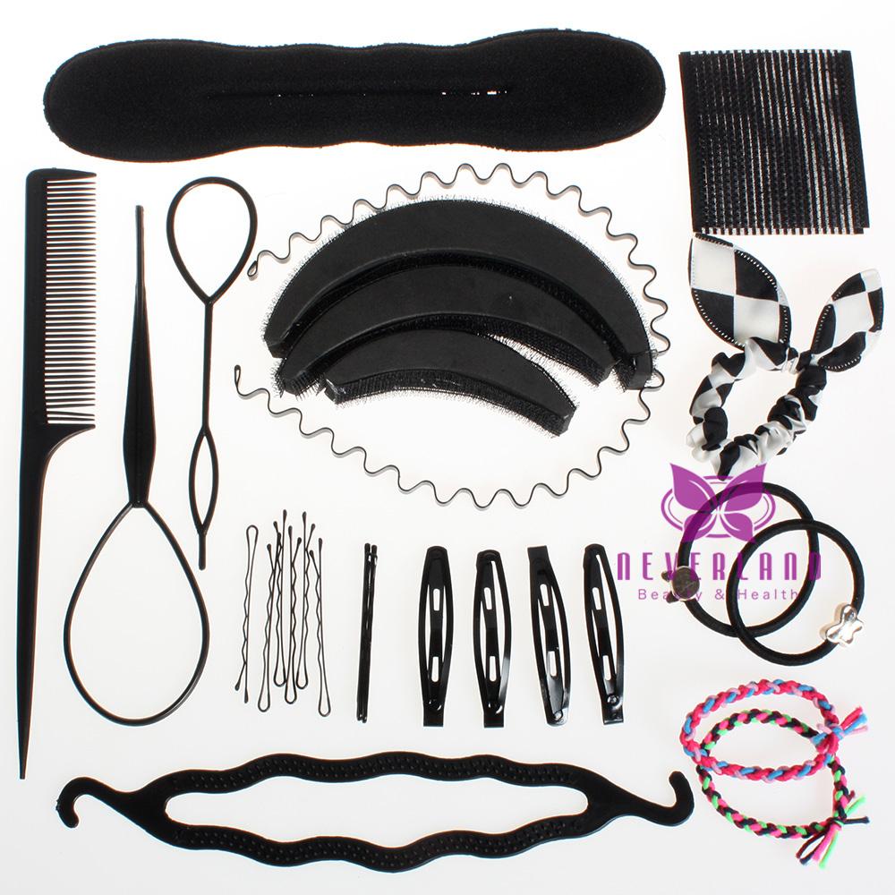Women Fashion Hair Styling Clip Stick Maker Braid Tool Kit