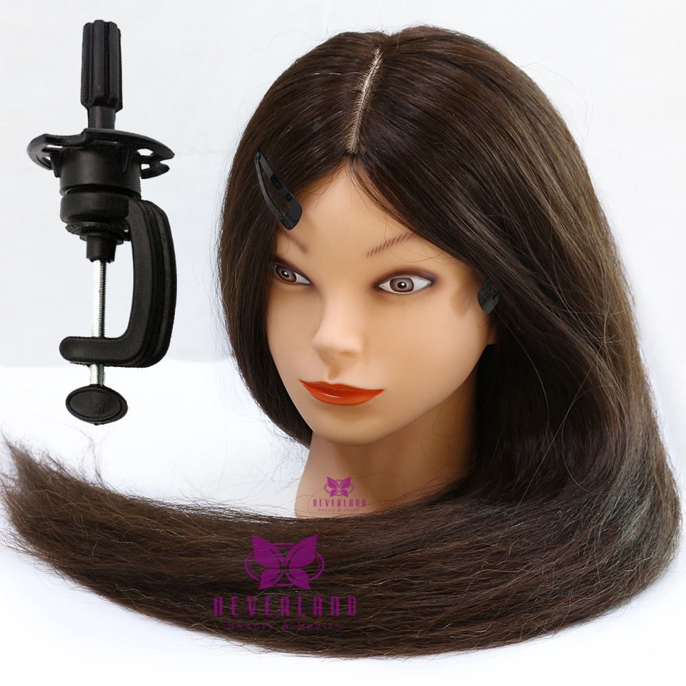 90 28 Quot Long Real Human Hair Hairdressing Training Head