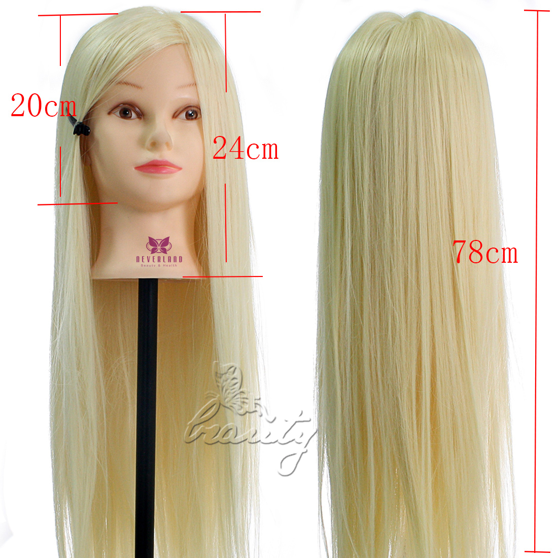30 Quot Super Long 100 Hairdressing Synthetic Hair Mannequin