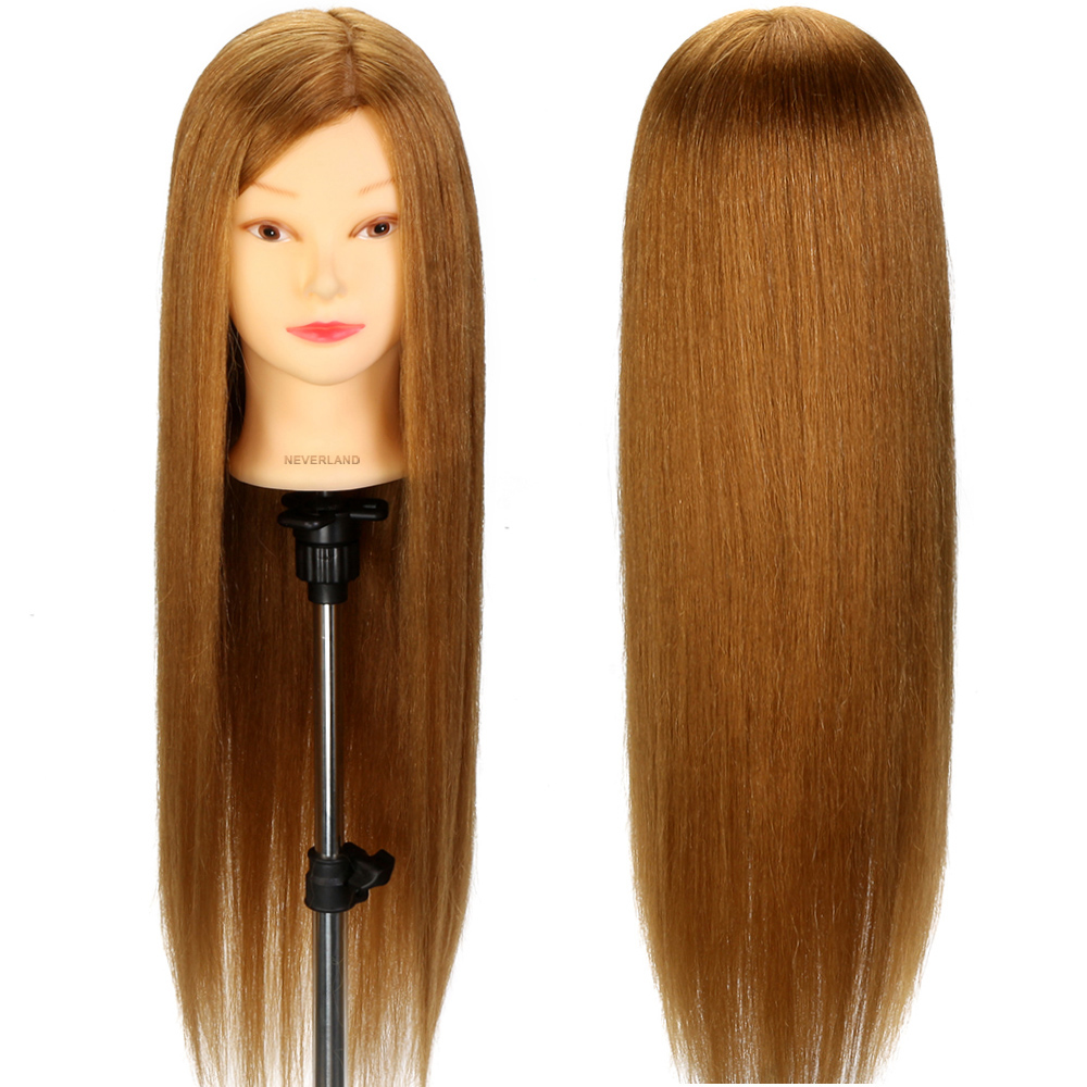 26 Quot 70 Long Real Hair Training Head Practice Hairdressing