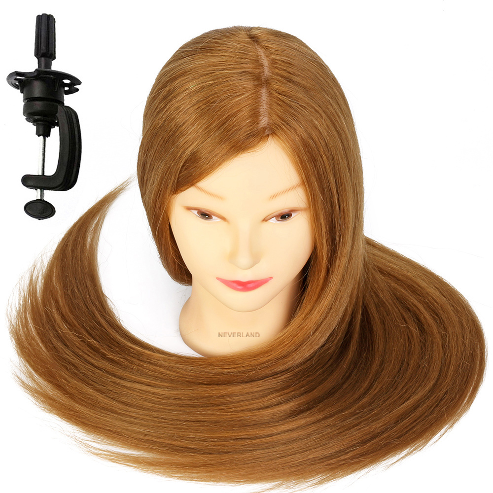 26 Quot 70 100 Real Hair Synthetictraining Head Mannequin