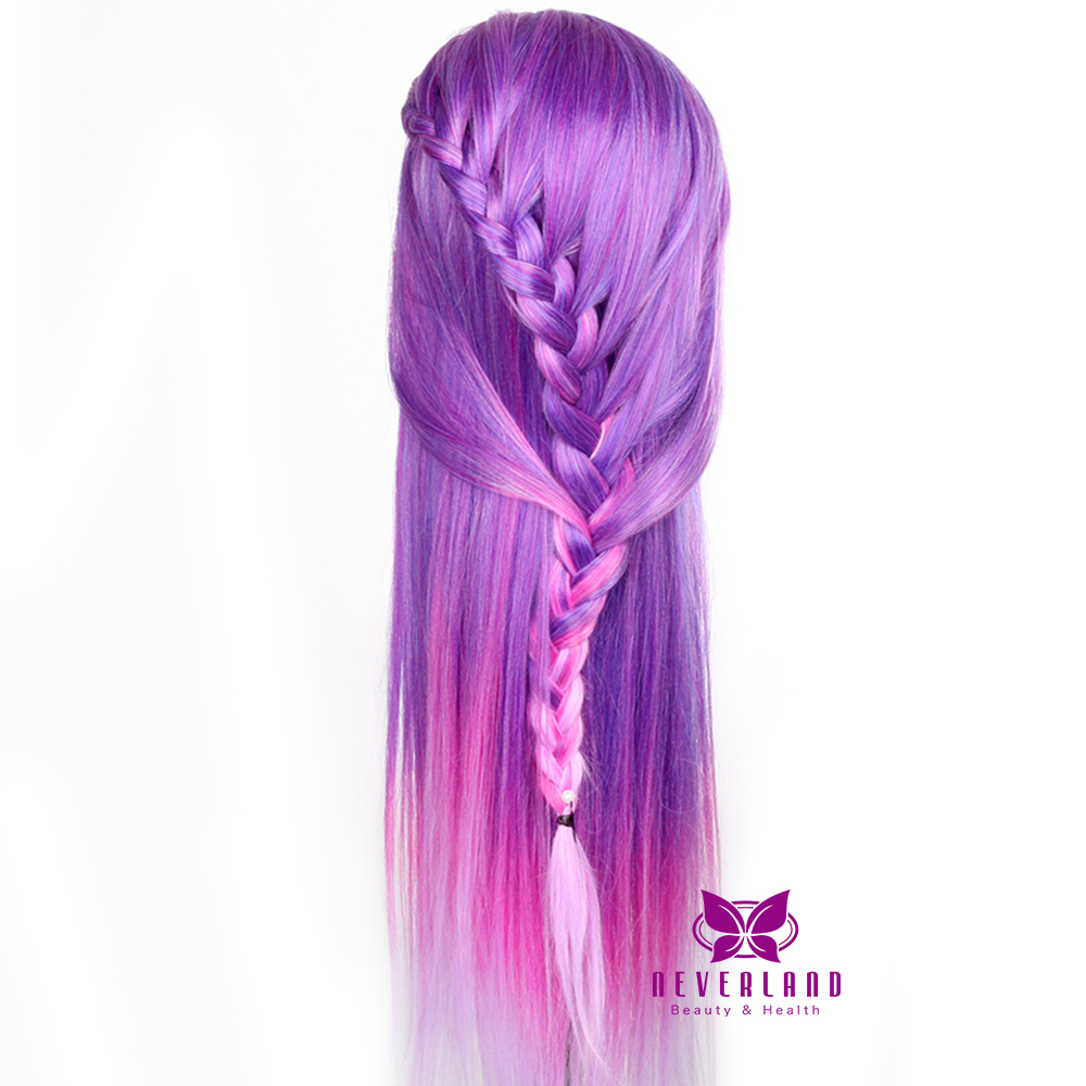 28 Quot Long Colorful Hair Hairdressing Training Practice Head