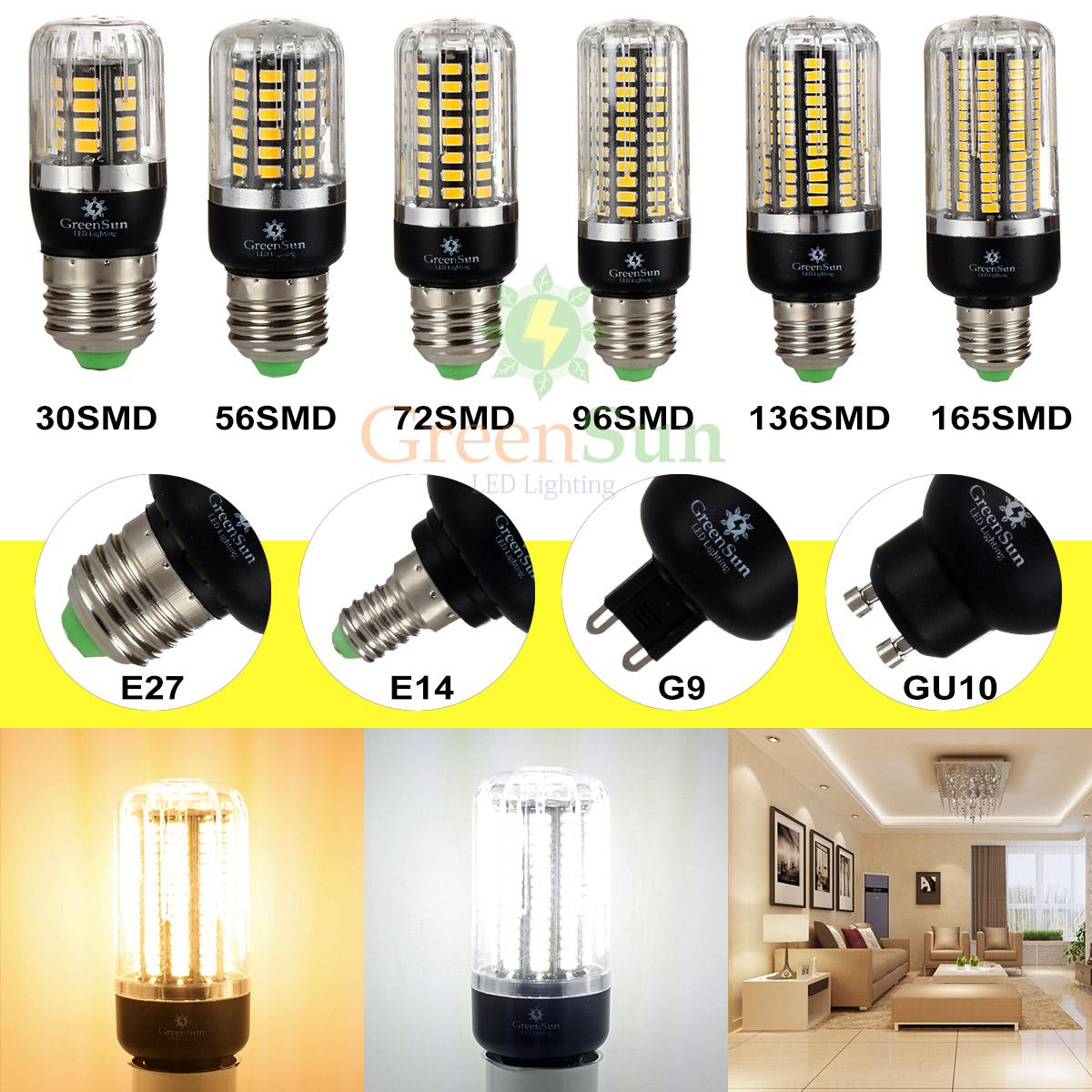 e27 e14 g4 led 5736 5733 2835 smd ma s ampoule lampe spot. Black Bedroom Furniture Sets. Home Design Ideas