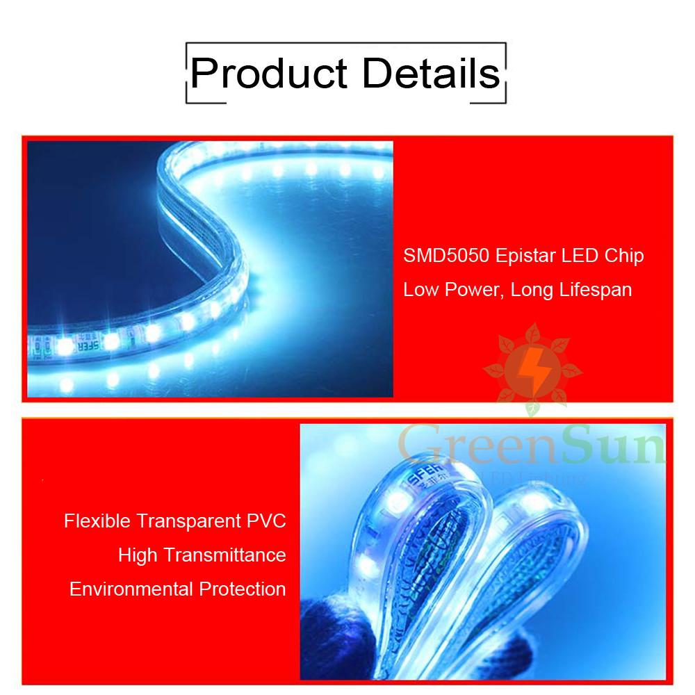 led strip 5050smd lichterkette licht leiste streifen lichtschlauch au en innen. Black Bedroom Furniture Sets. Home Design Ideas