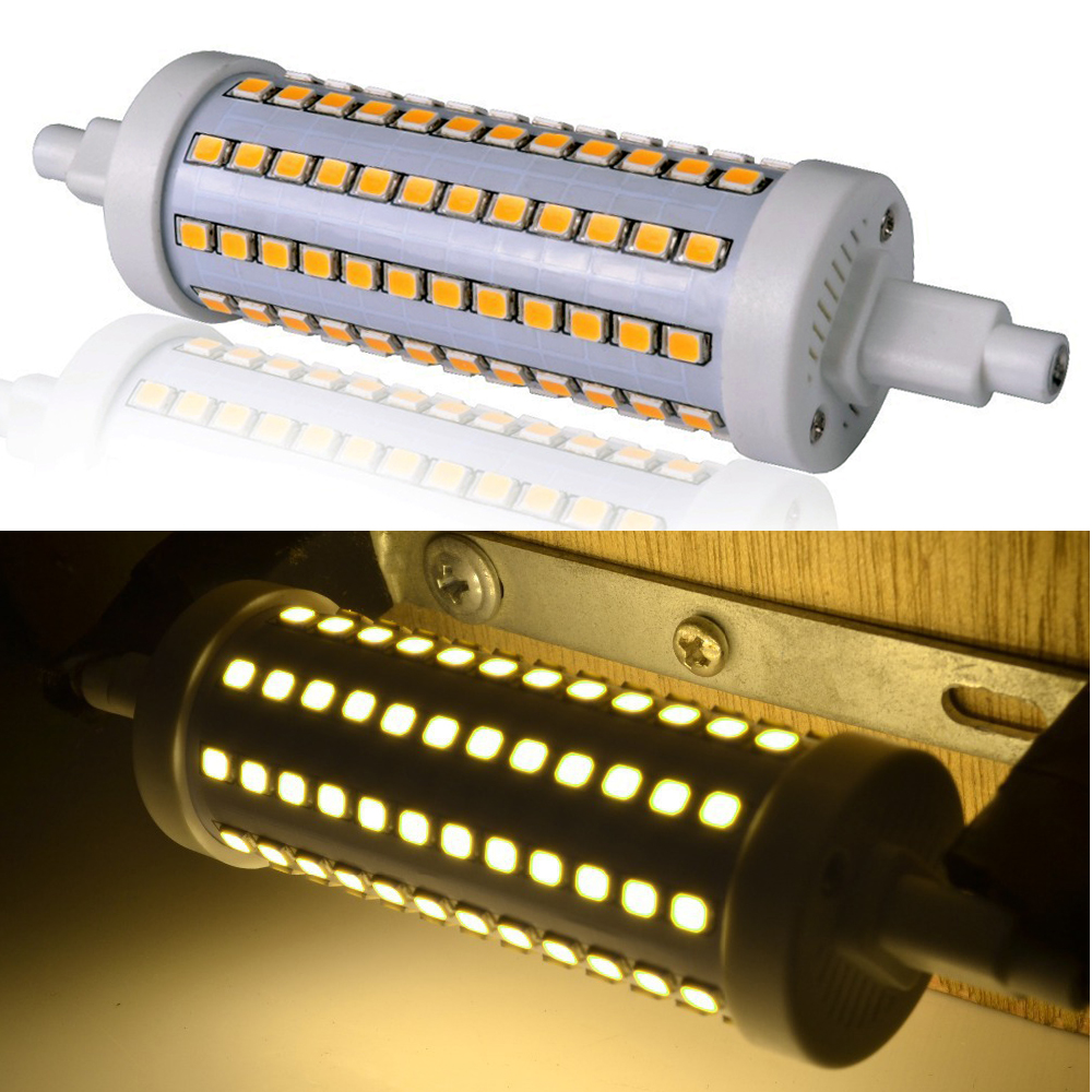 r7s 10w 118mm 2835 smd 96 led flood light bulb replacement. Black Bedroom Furniture Sets. Home Design Ideas