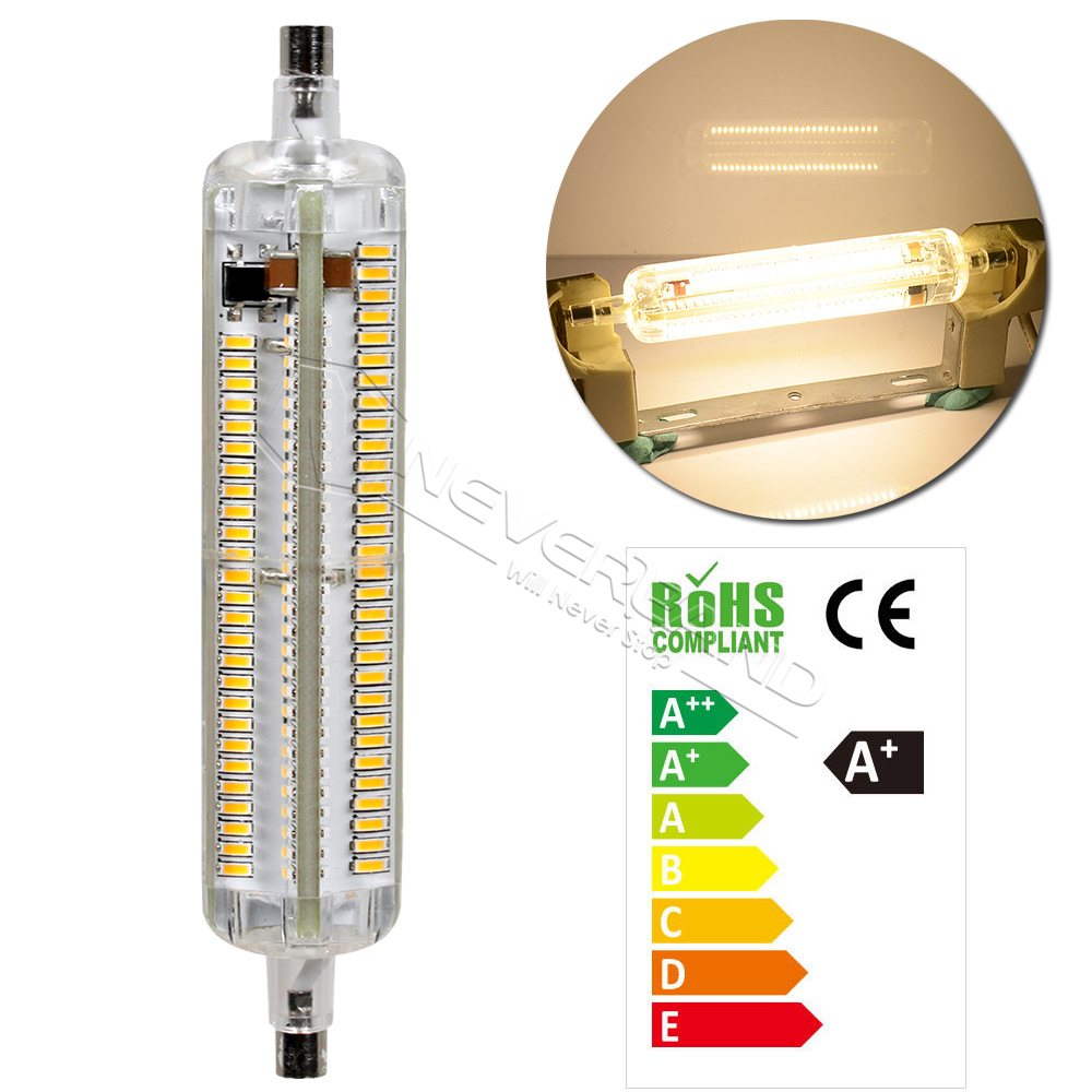 silicone 12w r7s led lamp 118mm 3014smd bulbs floodlight halogen spotlight new ebay. Black Bedroom Furniture Sets. Home Design Ideas