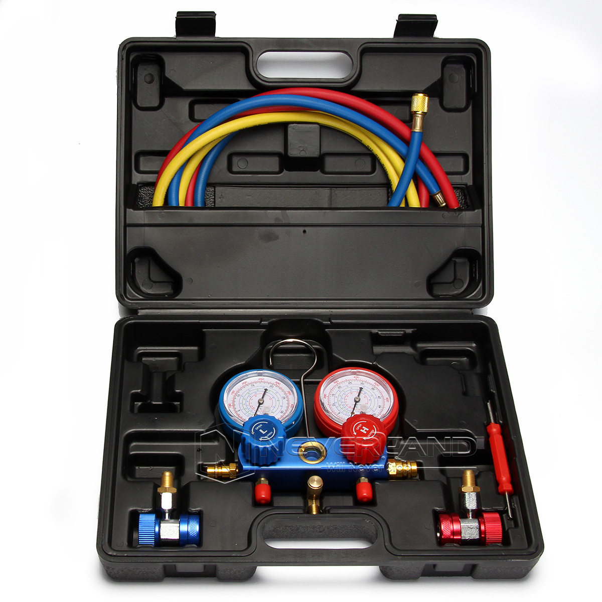 how to use air conditioner manifold gauge set