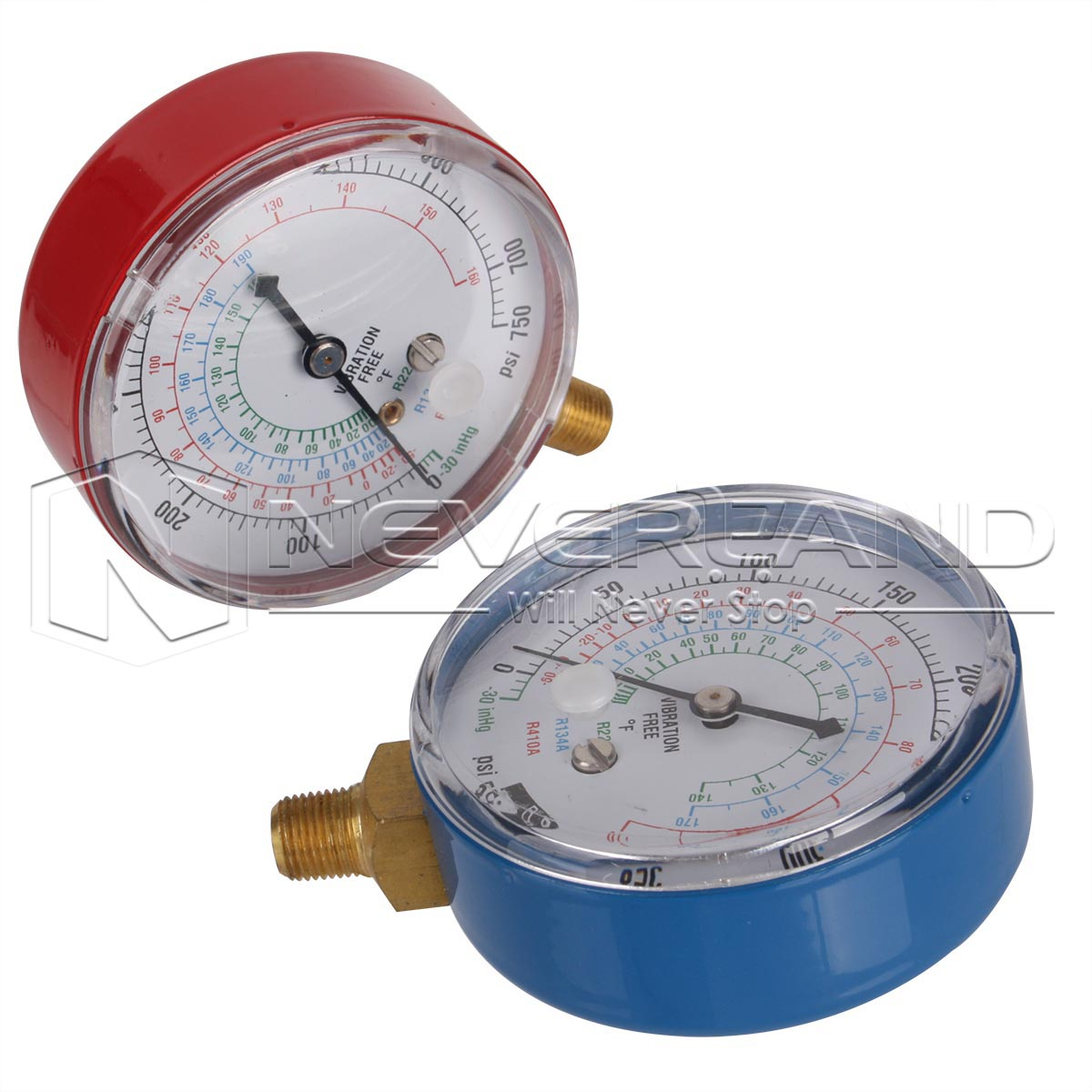 High Pressure Meter : Pair air conditioner r a refrigerant low high
