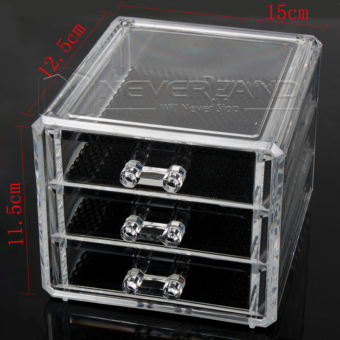 Clear Makeup Case Drawers Cosmetic Organizer Jewelry Storage Acrylic
