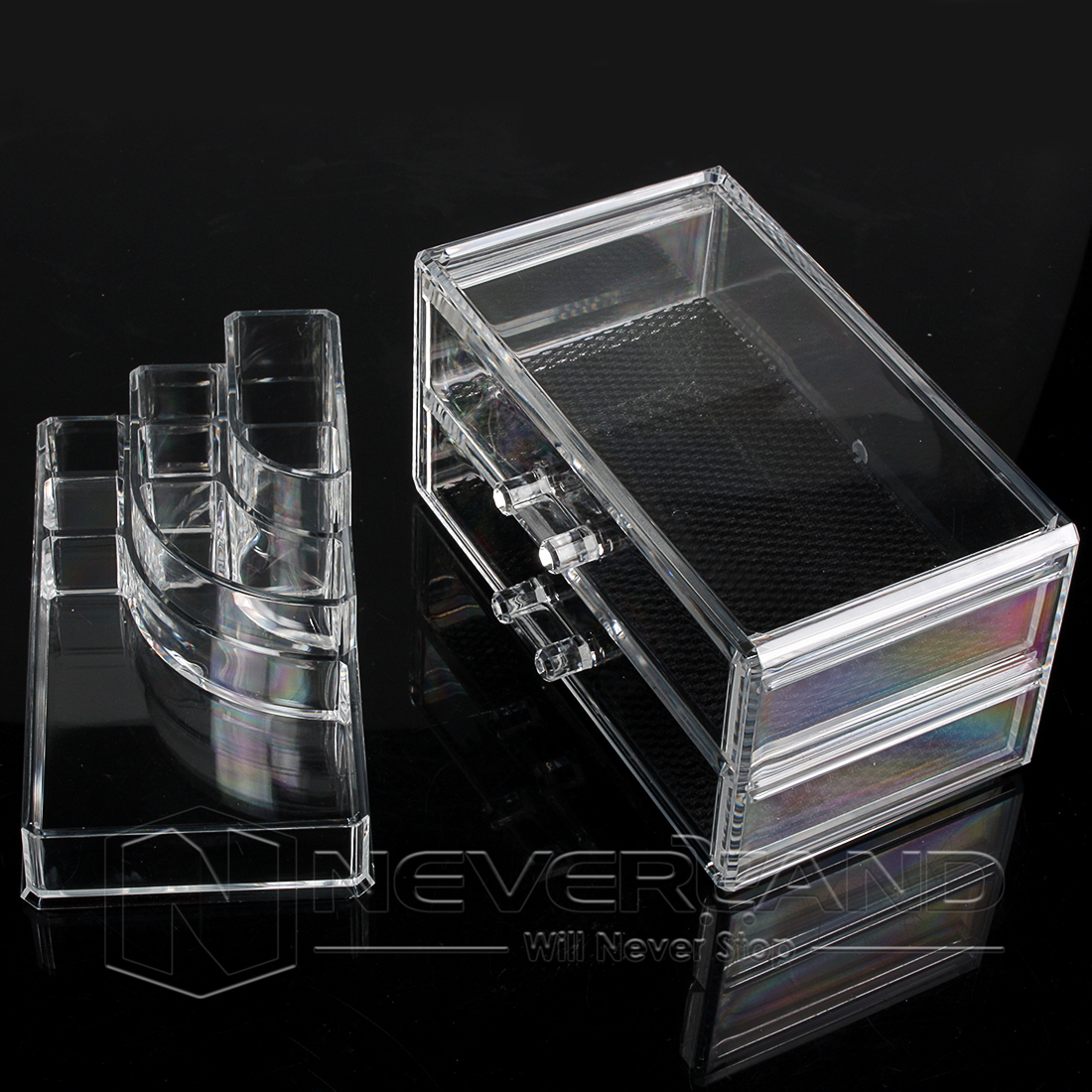 Au Acrylic Makeup Case Cosmetic Organizer Display Storage