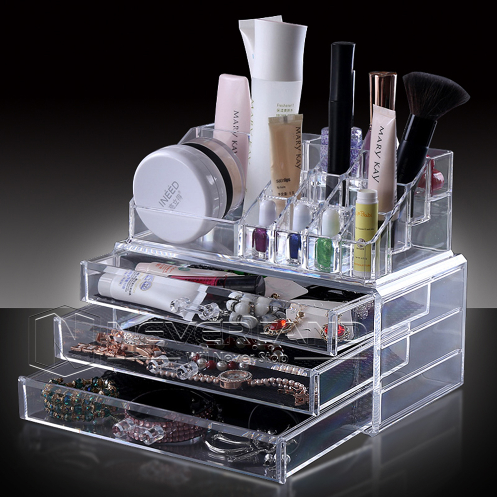 Acrylic Makeup Cosmetic Organiser Case Jewelry Storage Box
