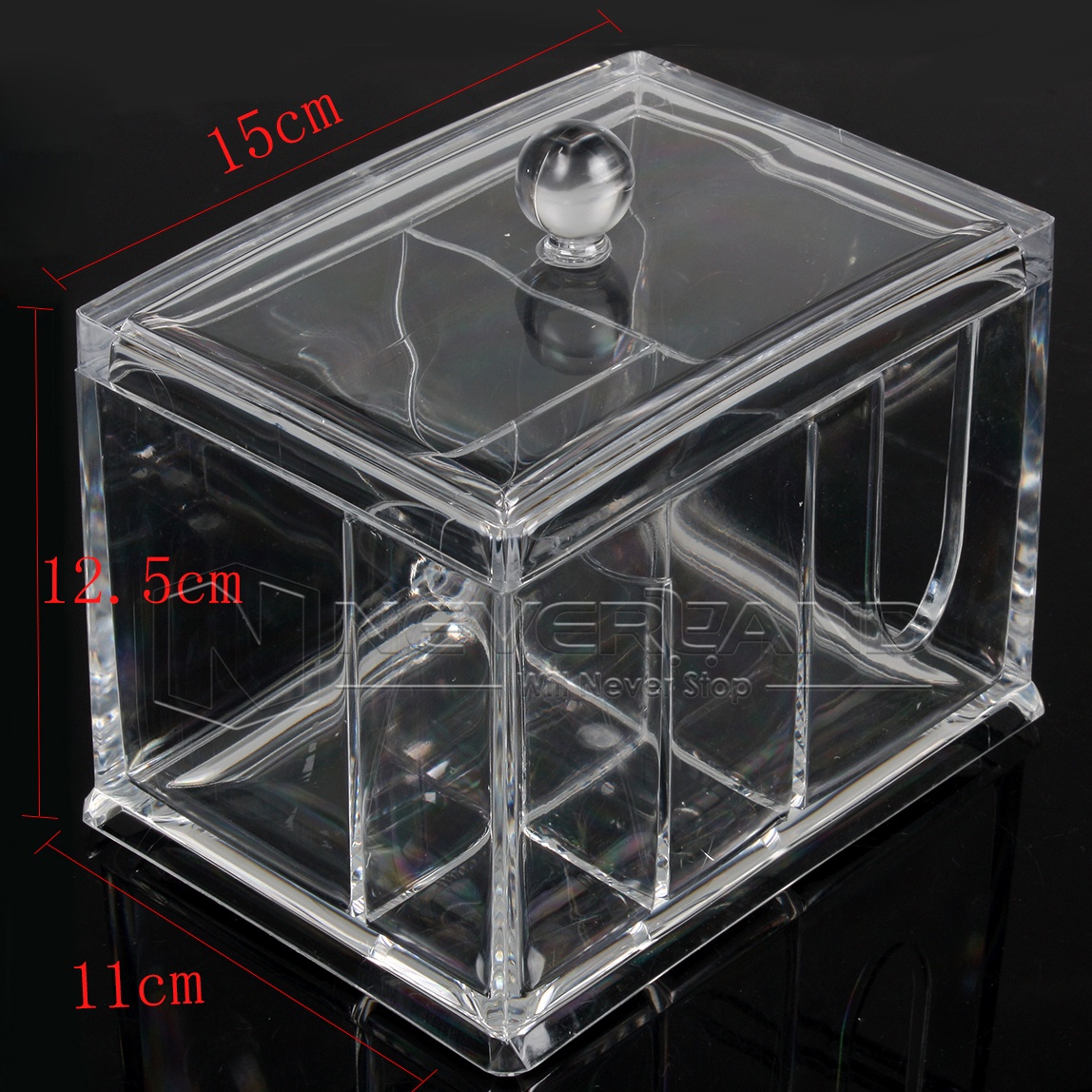 Makeup Box Cosmetic Organizer Drawer Jewelry Holder Storage Case Clear Acrylic
