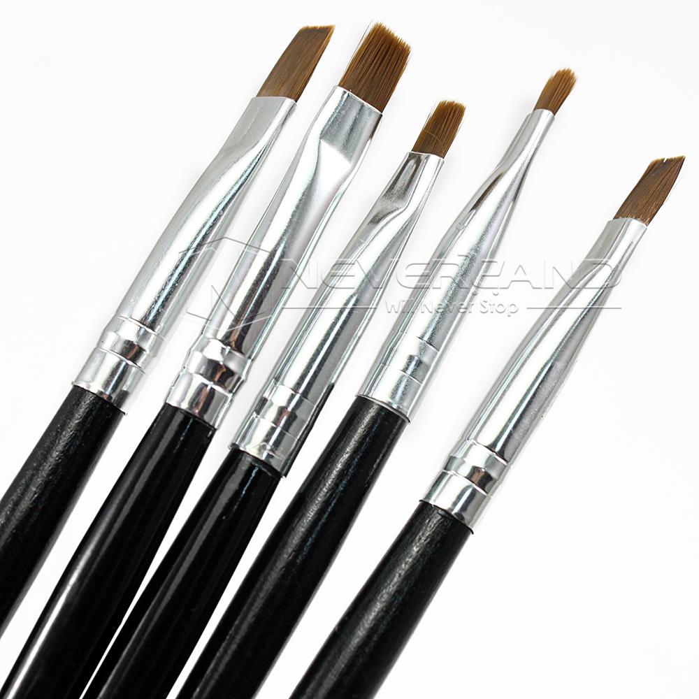 5er nagel pinsel acryl nail art design uv gelpinsel pen nailart stifte set ebay. Black Bedroom Furniture Sets. Home Design Ideas