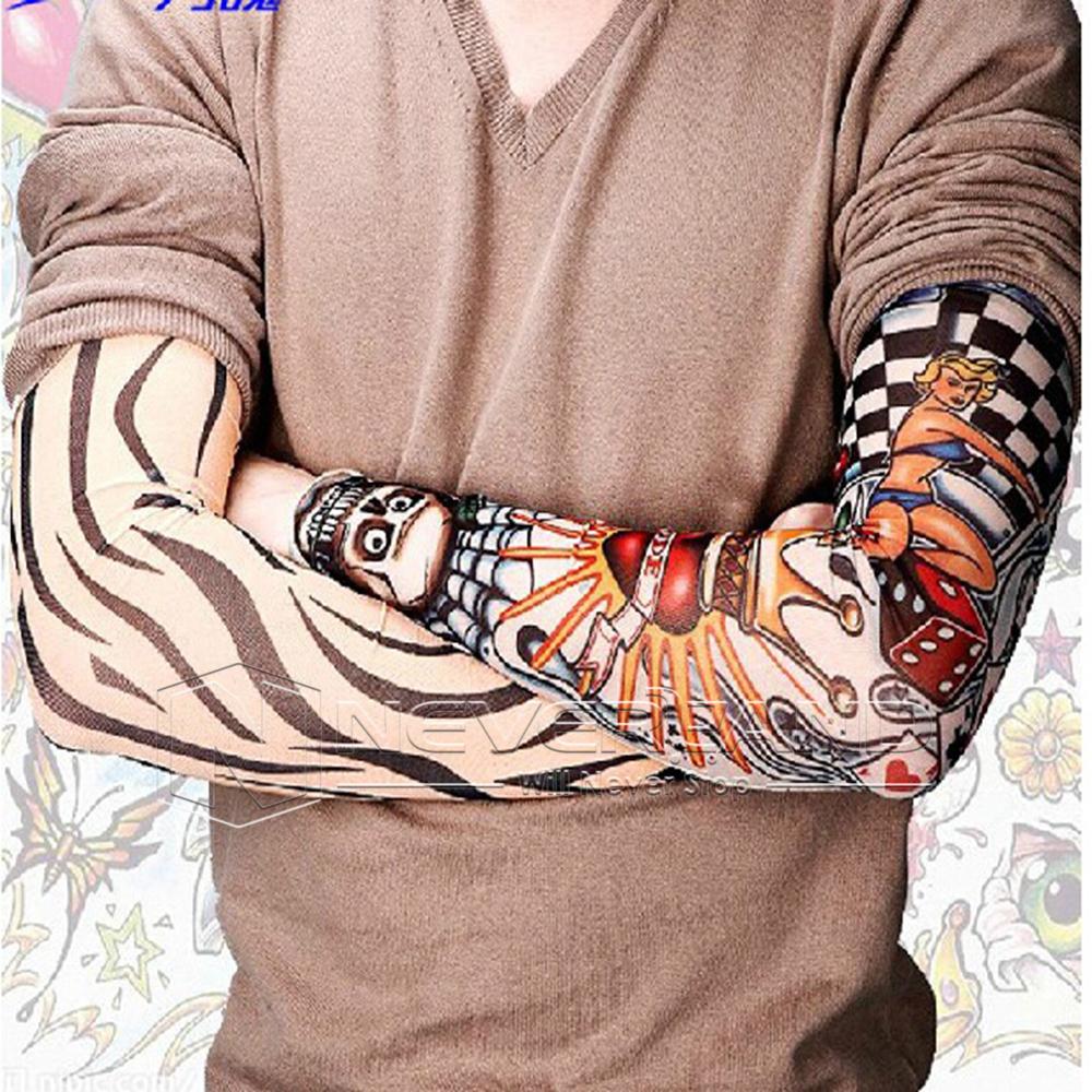 Fake Temporary Tattoo Sleeve Arm Stockings Tatoo For Men Women EBay