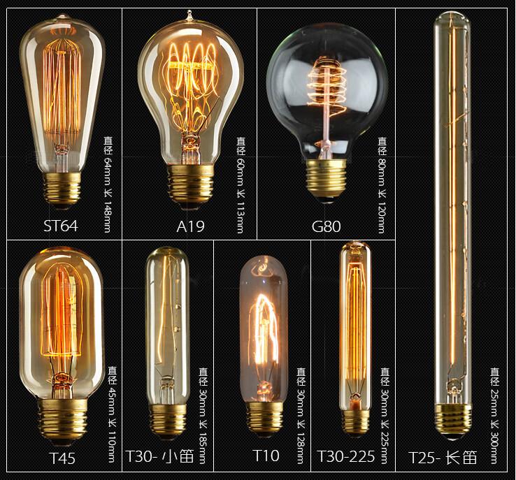 E27 40W Edison Vintage Retro Glühlampe Filament Retro ...