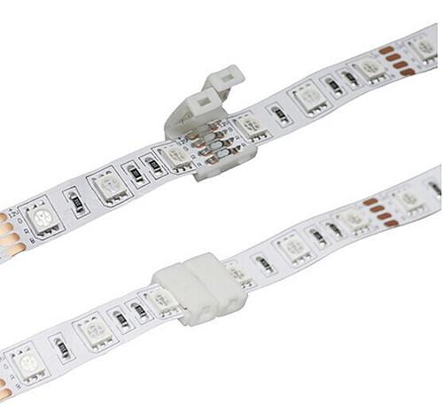 10x led rgb steckverbinder 4 pin strip schnell verbinder. Black Bedroom Furniture Sets. Home Design Ideas