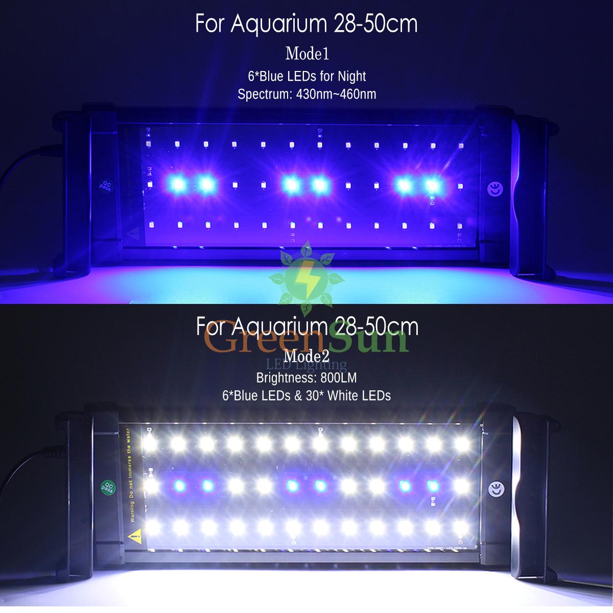 28cm 70cm aquarium beleuchtung led lampe aufsetzleuchte abdeckung klemmleuchte ebay. Black Bedroom Furniture Sets. Home Design Ideas