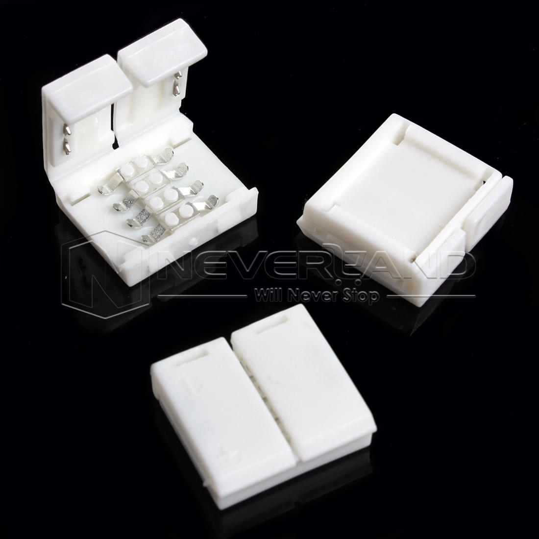 10x led rgb steckverbinder 4 pin strip schnell verbinder adapter kabel leiste ebay. Black Bedroom Furniture Sets. Home Design Ideas